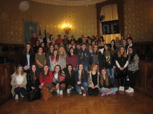 """A San Ginesio 24  studenti del Liceo """"Jean-François Millet"""" di Cherbourg-Octeville"""