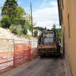 Riapertura strada Cingolana in località Borgiano a Serrapetrona