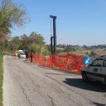 Frana sulla strada Tolentino - San Ginesio: iniziati i lavori
