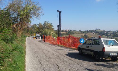 Frana sulla strada Tolentino – San Ginesio: iniziati i lavori
